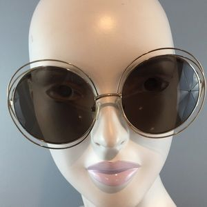 Chloe Carlina Wire Frame Sunglasses Made in Italy